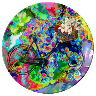 Pretty Abstract water color Grapes bike  plate