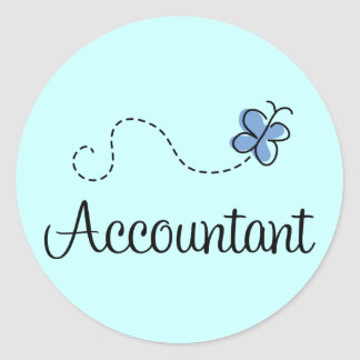 Pretty Accountant Classic Round Sticker