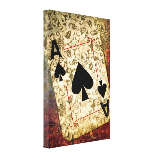 Pretty Ace of Spades Design Canvas Print