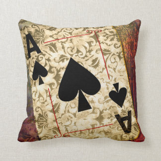 Pretty Ace of Spades Design Pillow