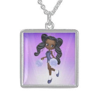 Pretty African American Cheerleader Necklace