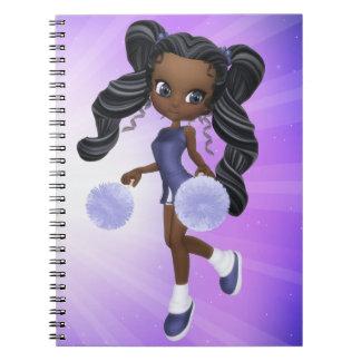 Pretty African American Cheerleader Notebook