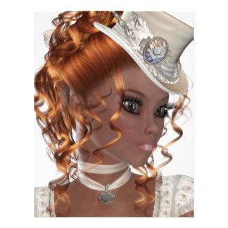 Pretty African American Woman Letterhead