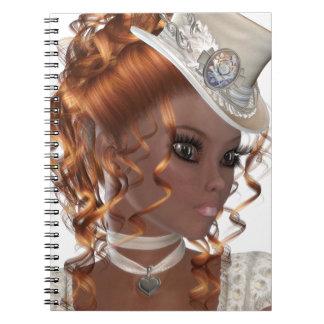 Pretty African American Woman Spiral Notebook