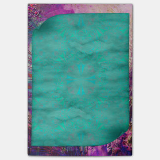 Pretty Aged Curled Pages Turquoise Parchment Post-it Notes