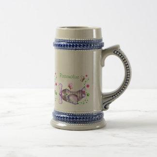 Pretty Airplane Pixel Art Coffee Mug
