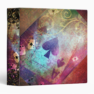 Pretty Alice in Wonderland Inspired Ace of Spades 3 Ring Binder