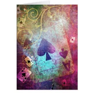 Pretty Alice in Wonderland Inspired Ace of Spades Card