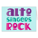 Pretty Alto Singers Rock Gift Greeting Card