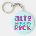 Pretty Alto Singers Rock Gift Keychains