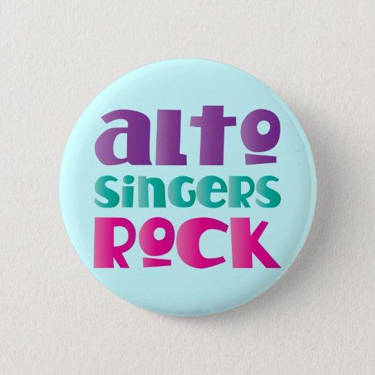Pretty Alto Singers Rock Gift Pinback Button