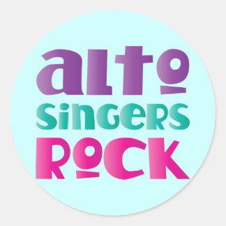 Pretty Alto Singers Rock Gift Sticker