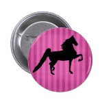 Pretty American Saddlebred Horse Pink Button