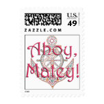 Pretty Anchor Postage Stamps