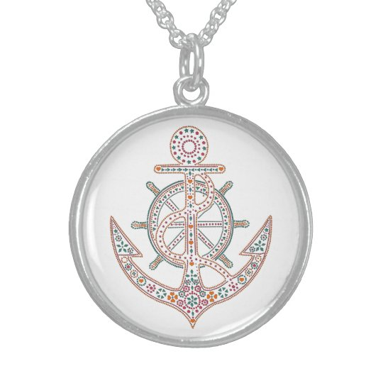 Pretty Anchor Sterling Silver Necklace