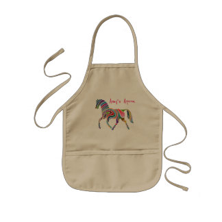Pretty and Colorful Rainbow Horse Kids' Apron