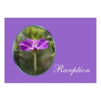 Pretty and elegant purple flower wedding reception