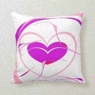 Pretty and Fun Heart Throw Pillow