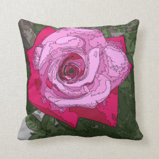 Pretty and Fun Rose Graphic pillow