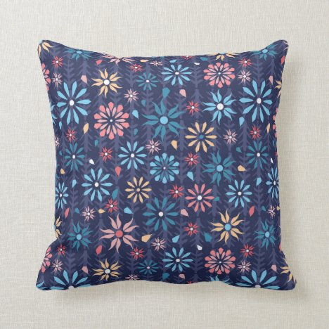 Pretty and modern flower garden throw pillow