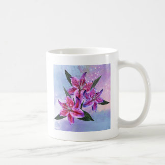 Pretty and on-trend tropical lillies design coffee mug