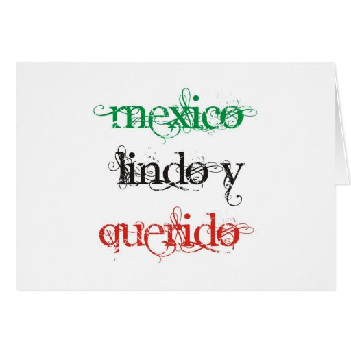 PRETTY AND WANTED MEXICO GREETING CARD