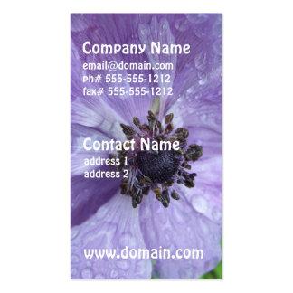 Pretty Anemone Flower Business Cards