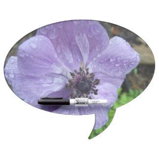 Pretty Anemone Flower Dry Erase Board