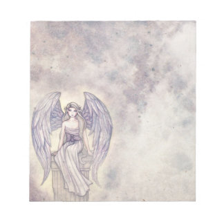Pretty Angel in Clouds Noetepad Notepad