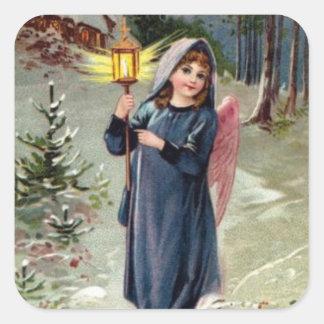 Pretty Angel With Lantern Sticker