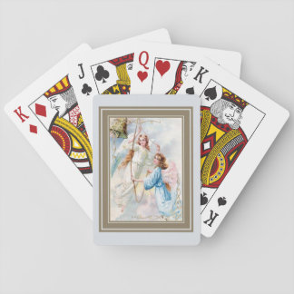 Pretty Angels With Bell Playing Cards
