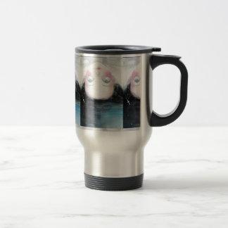 pretty anime girl travel mug