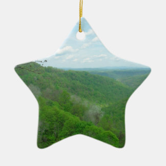 Pretty Appalachian Overlook Ceramic Ornament