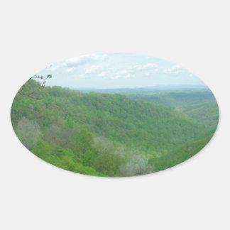 Pretty Appalachian Overlook Oval Sticker