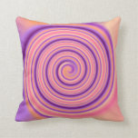 Pretty Apricot and Mauve> Patterned Square Pillow