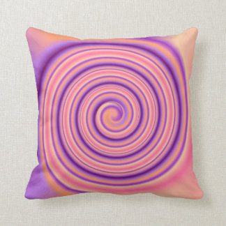 Pretty Apricot/ Mauve> Patterned Square Pillow