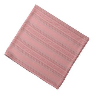Pretty Apricot Pink Stripes Bandana