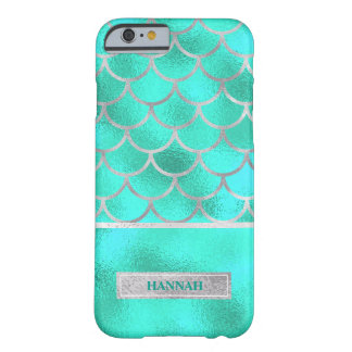 Pretty Aqua Mermaid, Customized Barely There iPhone 6 Case
