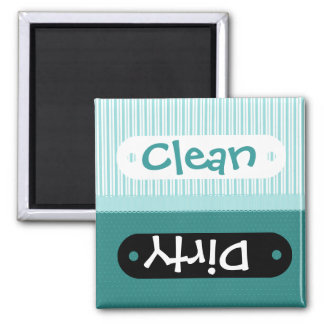 Pretty Aqua Pattern Clean Dirty Dishwasher Magnet