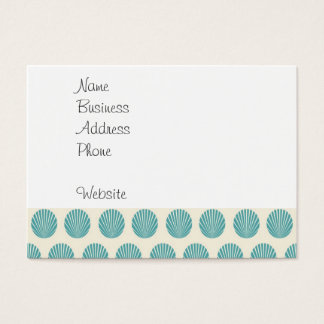 Pretty Aqua Teal Blue Shell Beach Pattern Gifts Business Card