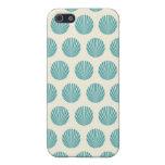 Pretty Aqua Teal Blue Shell Beach Pattern Gifts iPhone 5 Cover