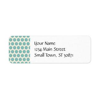 Pretty Aqua Teal Blue Shell Beach Pattern Gifts Custom Return Address Label