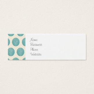 Pretty Aqua Teal Blue Shell Beach Pattern Gifts Mini Business Card