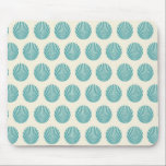 "Pretty Aqua Teal Blue Shell Beach Pattern Gifts Mouse Pad<br><div class=""desc"">Pretty Aqua Teal Blue Shell Beach Pattern Gifts</div>"