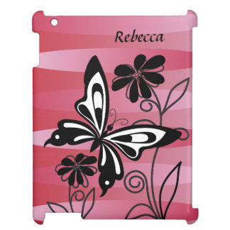 Pretty Art Deco style butterfly and flowers Cover For The iPad