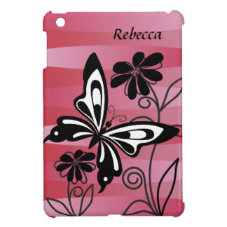 Pretty Art Deco style butterfly and flowers iPad Mini Covers