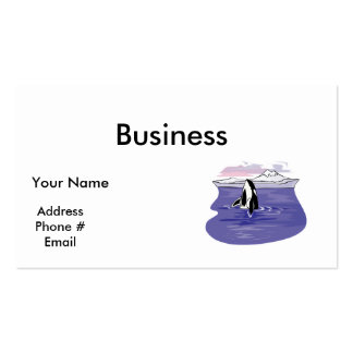 pretty artic orca scene Double-Sided standard business cards (Pack of 100)