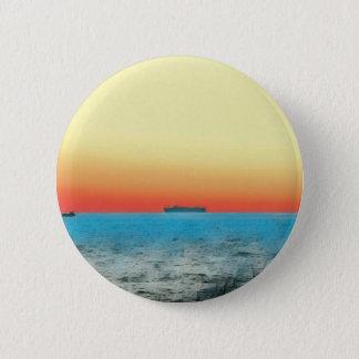 Pretty Artistic Seascape Naval ship Silhouette Button