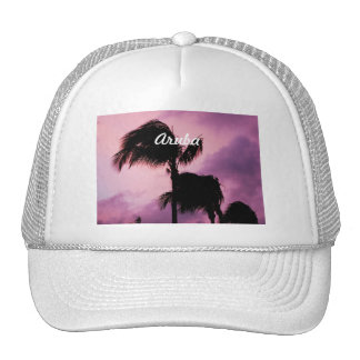 Pretty Aruban Sunset Mesh Hats