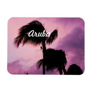 Pretty Aruban Sunset Magnets